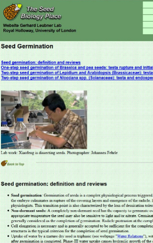 The Seed Biology Place Web Site